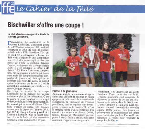 Bischwiller s'offre une coupe