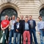 L'équipe à l'entrée du Palais Fervaques de Saint-Quentin