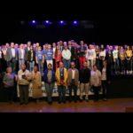La grande famille des champions sportifs bischwillerois à l'honneur. Photo DNA