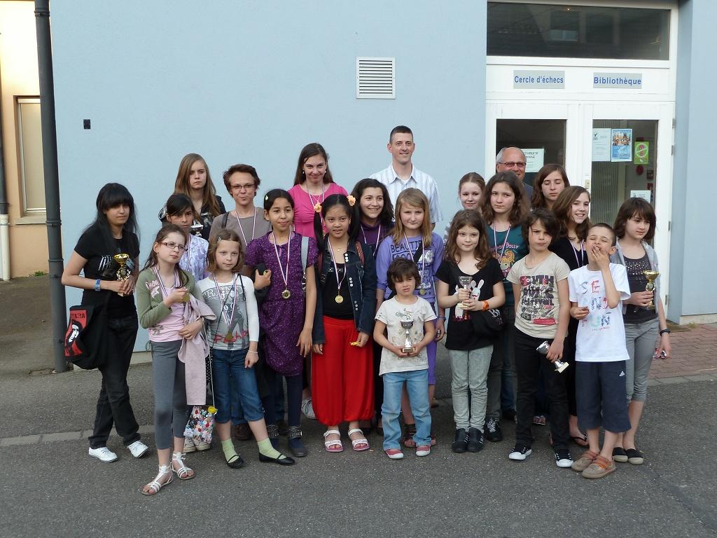 Championnat d'Alsace Rapide Féminin 2011 - Les participantes