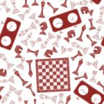 Chess patterns activities - red