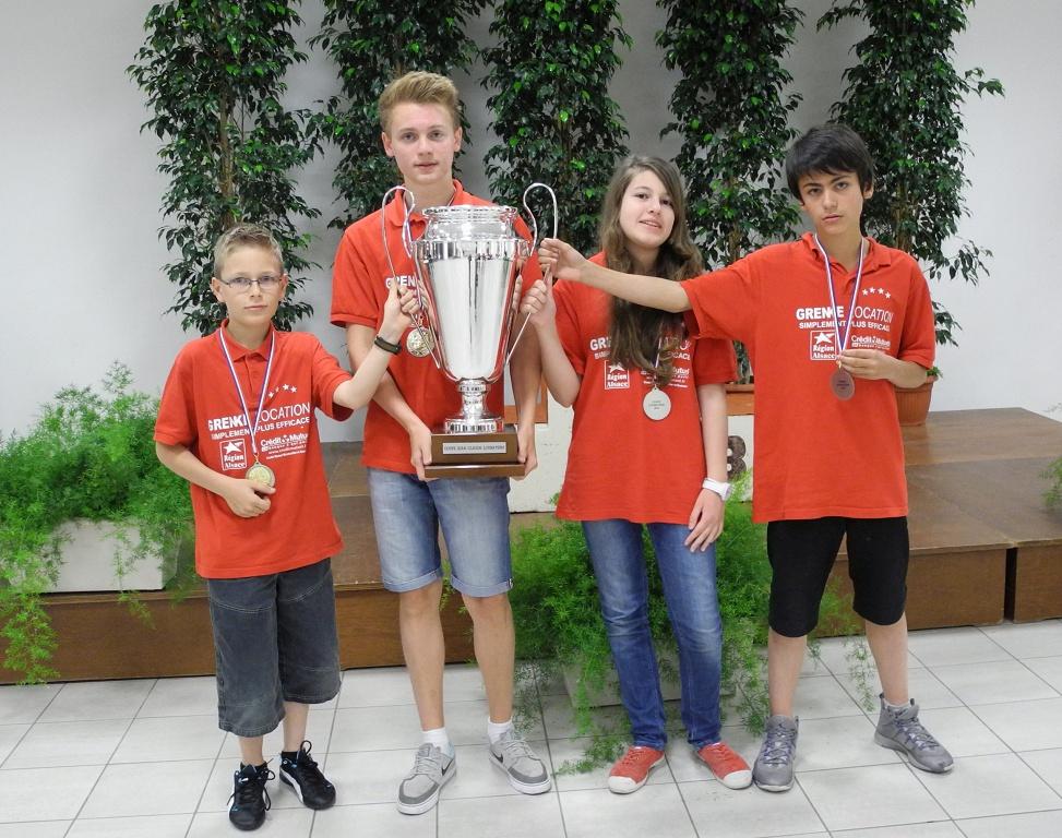 De gauche à droite : Romain Kantzer, Nicolas Lagel, Juliette Guerin, Luan Tournois.