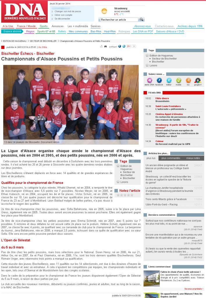 DNA -  Championnats d'Alsace Poussins et Petits Poussins