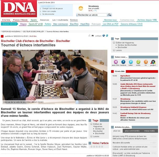 DNA - Tournoi d'echecs interfamilles