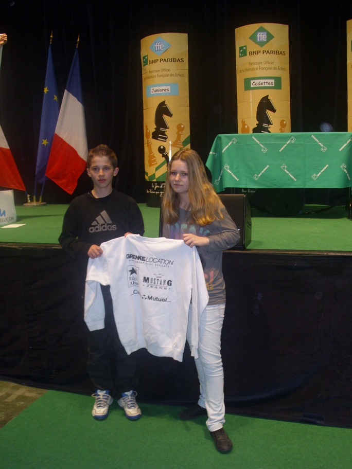 Bilel Bellahcene, Champion de France Benjamin et Julie Fischer, 3ème dans la catégorie Minimette.