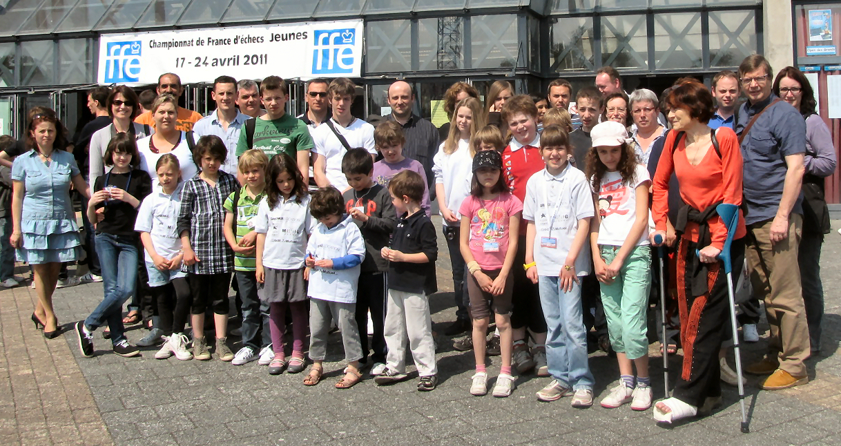Montluçon 2011 - Les joueurs et accompagnateurs du club de Bischwiller