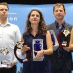 Nîmes 2018 podium G à D Romain, Tigran, Yannick