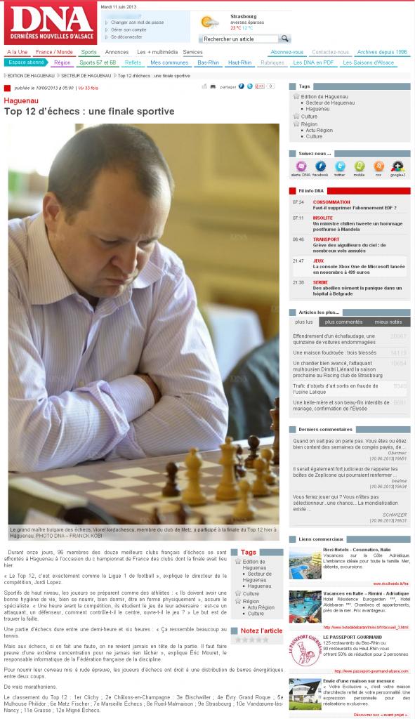 Top 12 d'échecs  - une finale sportive